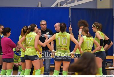 Liverani Castellari Lugo -Teodora Glomex Ravenna 16ª giornata Campionato Serie B2 Femminile 2015-16, girone D PalaBanca di Romagna Lugo RA, 20.02.2016 FOTO: Daniele Ricci © 2016 Volleyfoto.it, all rights reserved [id:20160220.B2F_TEO-33]