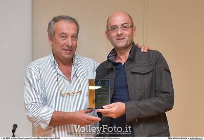 Volley Ponte Felcino durante Premiazioni Campionati 2015-16 Fipav Umbria presso Hotel Casa Leonori Santa Maria degli Angeli PG IT, 01 ottobre 2016 - Foto di Michele Benda [MB3_1352]