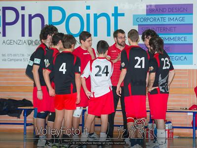 Grifo Volley Perugia U17M - Istituto Leonardi Perugia U17M | 8ª giornata - Campionato provinciale Perugia Prima Divisione Maschile, girone B (id: 2014.01.09._MBE1068)