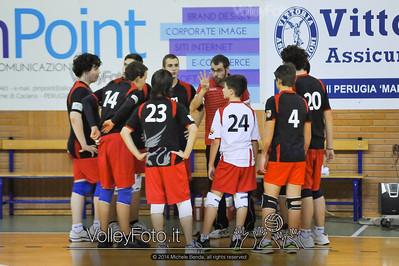 Grifo Volley Perugia U17M - Istituto Leonardi Perugia U17M | 8ª giornata - Campionato provinciale Perugia Prima Divisione Maschile, girone B (id: 2014.01.09._MBE1124)