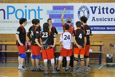 Grifo Volley Perugia U17M - Istituto Leonardi Perugia U17M | 8ª giornata - Campionato provinciale Perugia Prima Divisione Maschile, girone B (id: 2014.01.09._MBE1120)