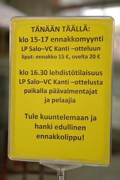 Vor dem Europacupspiel in Salo (29./30.10.2013)