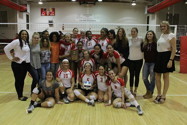 Volleyball 2016 District Championship and Post-Match Celebration