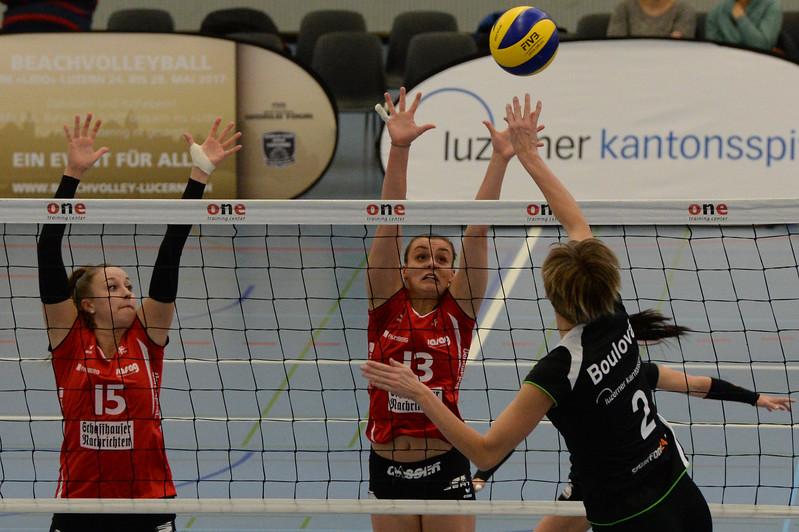 Volley Cup 2016/2017: Volley Top Luzern - VC Kanti 2:3. 08.01.2017 © Reinhard Standke