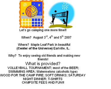 2007- Volleyball Campout