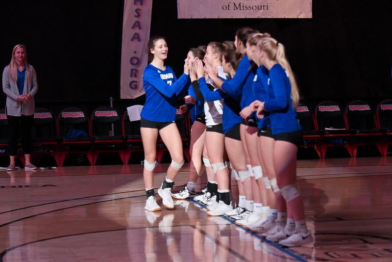 11/09/19 - Girls Volleyball - Class 2 state champ- Hermann vs St. Pius X