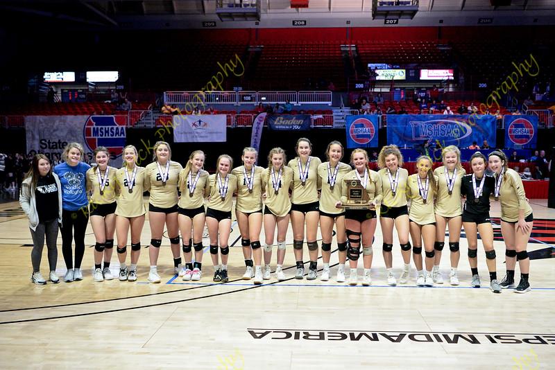 11/09/19 - Girls Volleyball - Class 3 third place match - Windson vs St, Michael