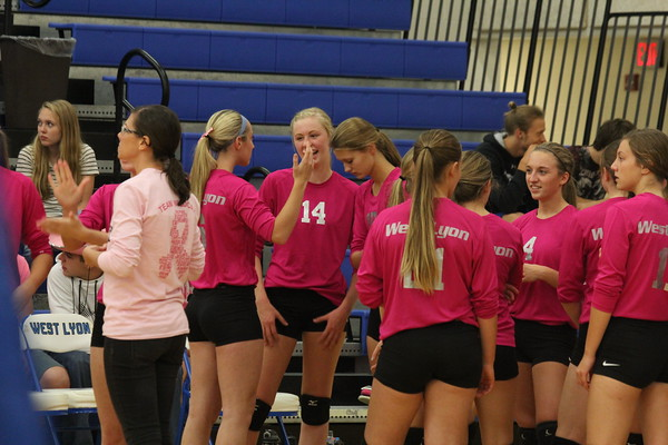 """Volleyball: West Lyon vs. Sioux Center """"Pink Out Night"""""""