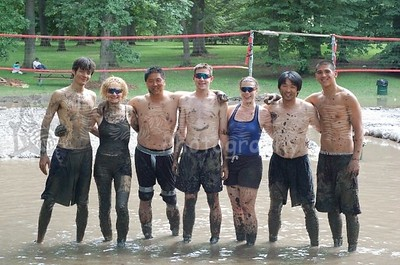 Mud Volleyball...Team Zebra