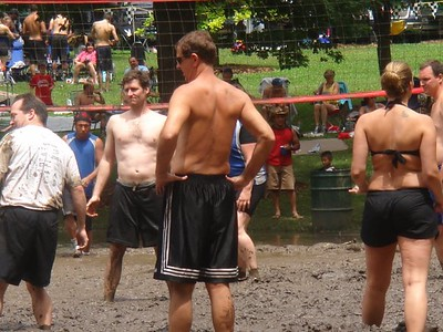 Mud volleyball tourney West Chicago 7-12-2009