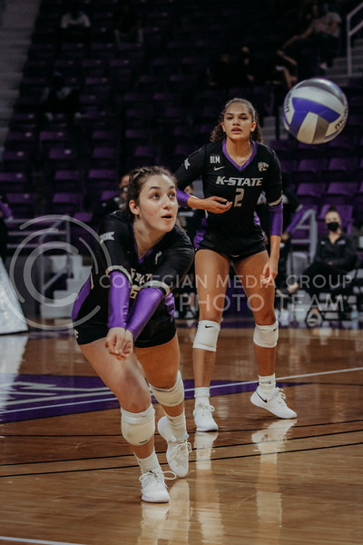 Junior Jacque Smith dives to get the ball during the March 20, 2021 Senior Night game against Creighton at Bramlage Stadium. (Sophie Osborn   Collegian Media Group)