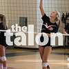 The Eagles volleyball team practices during 2-A-Days in the AMS gym in Argyle, Texas, on August 2, 2018. (Andrew Fritz / The Talon News)