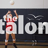 The Eagles volleyball team practices during 2-A-Days in the AMS gym in Argyle, Texas, on August 1, 2018. (Andrew Fritz / The Talon News)