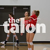The Eagles volleyball team practices during 2-A-Days in the AMS gym in Argyle, Texas, on August 13, 2018. (Andrew Fritz / The Talon News)