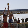 Phil Dalhausser going way over the top of Jake Gibb with a cobra