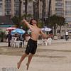 Derek Olson with a jump serve