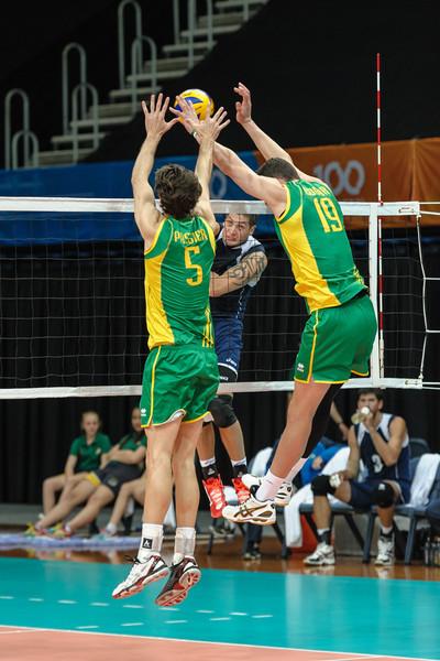 Alexandr Stolnikov (Kazakhstan) & Travis Passier, Thomas Edgar (Australia)