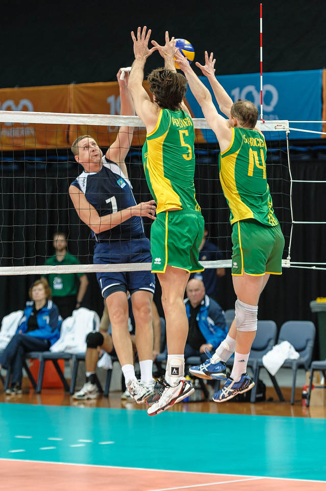 Dmitriy Gorbatkov (Kazakhstan) & Travis Passier, Greg Sukochev (Australia)