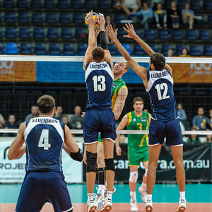 Aidan Zingel (Australia) & Vitaliy Erdshtein, Nordirkhan Kadirkhanov (Kazakhstan)