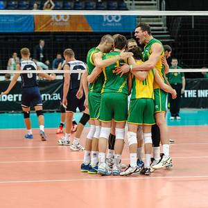 Aussie team pep talk