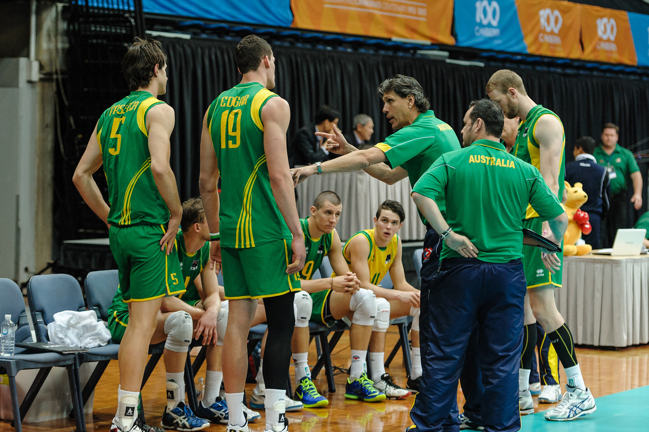 Australian team talk