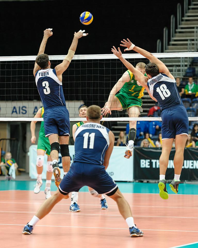 Aidan Zingel (Australia) & Anton Yudin, Vitaliy Vorivodin (Kazakhstan)