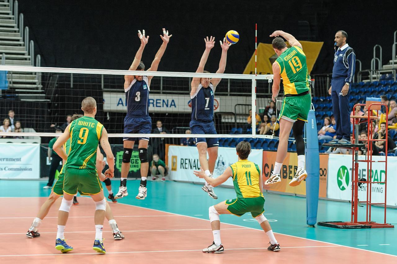 Thomas Edgar (Australia) & Anton Yudin, Dmitriy Gorbatkov (Kazakhstan)