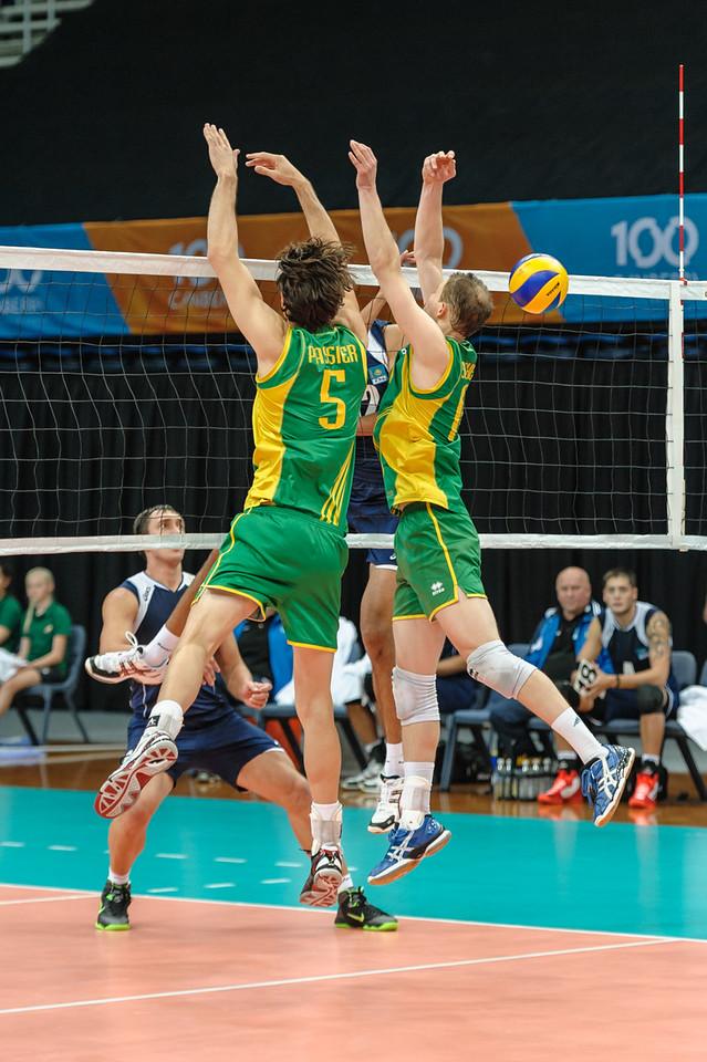 Nordirkhan Kadirkhanov (Kazakhstan) & Travis Passier, Greg Sukochev (Australia)