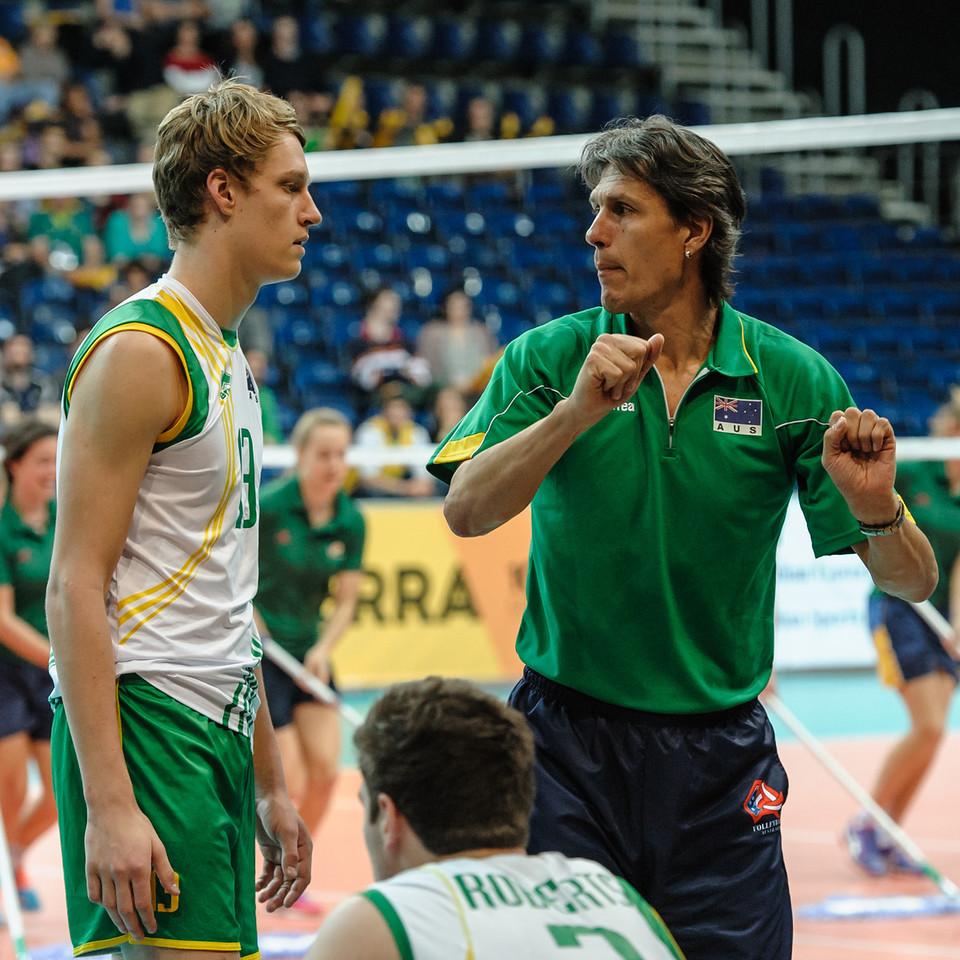 Sam Walker (Australia) & Jon Uriarte (Aus coach)
