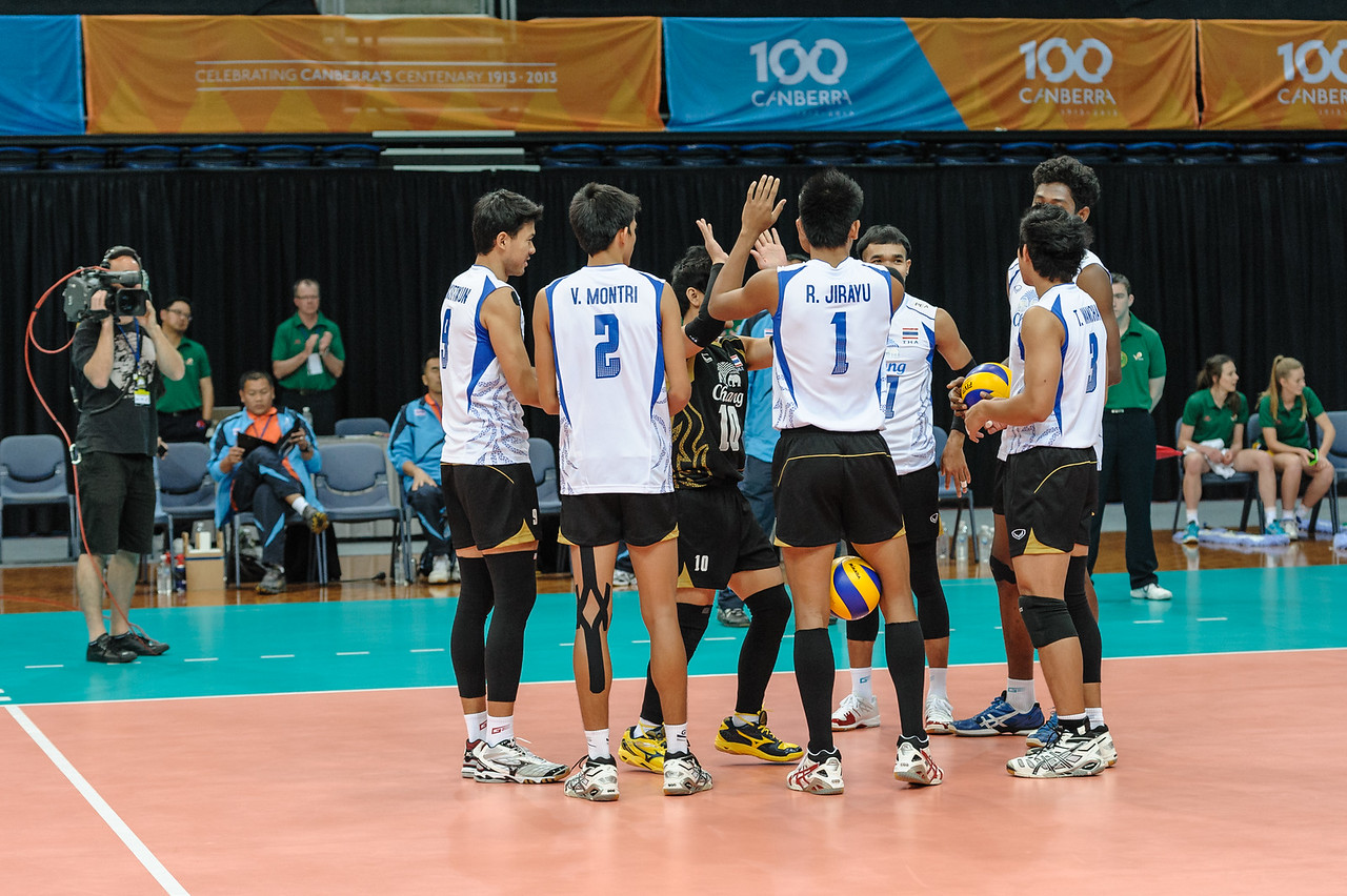 Thailand team introductions.