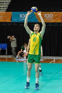 Ben Bell (Australia) warming up.