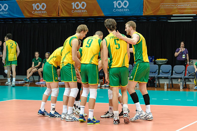 Australian team introductions.