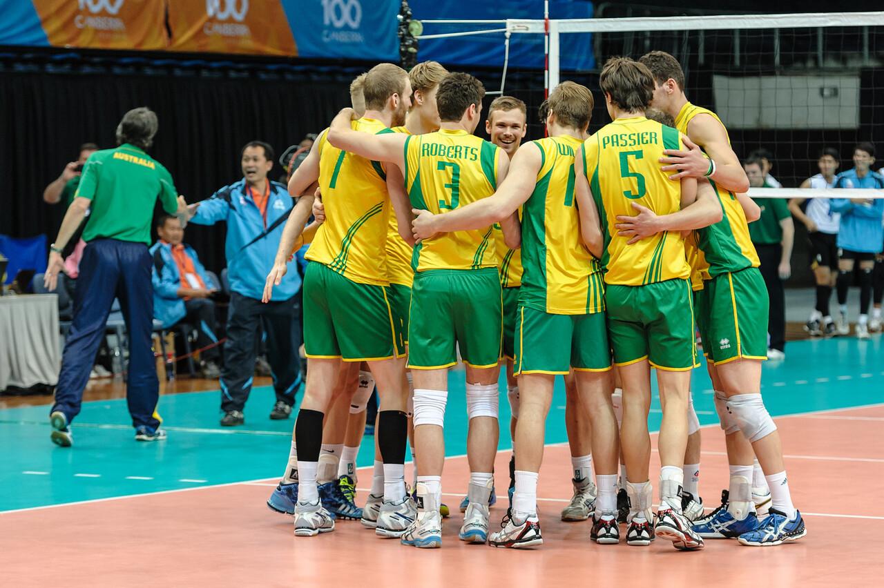 Australian team celebrates.