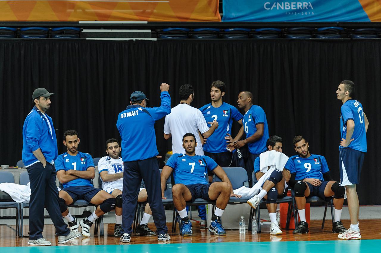 Kuwait team during timeout.