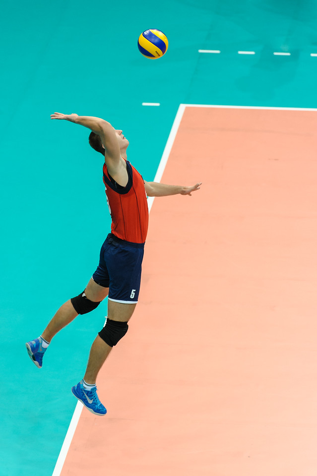 Jump serve by Kuznetsov (Kazakhstan)