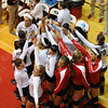 The Bulldogs huddle up before their game against Lipscomb during the Bulldog Invitational on Friday, Aug. 30, 2013, in Athens, Ga.  (Photos by Sean Taylor)