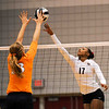 Jasmine Eatmon (17) tries to score a point during a volleyball game against Tennessee on Friday, Oct. 4th 2013 in Athens, Ga. (Photo By Sean Taylor)