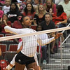 Jasmine Eatmon (17) hits the ball during a volleyball game against Tennessee on Friday, Oct. 4th 2013 in Athens, Ga. (Photo By Sean Taylor)