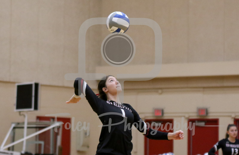 New Mexico St. setter Brianna Ainsworth (1)