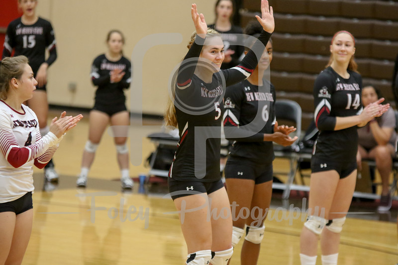 New Mexico St. outside hitter Brigette Lowe (5)
