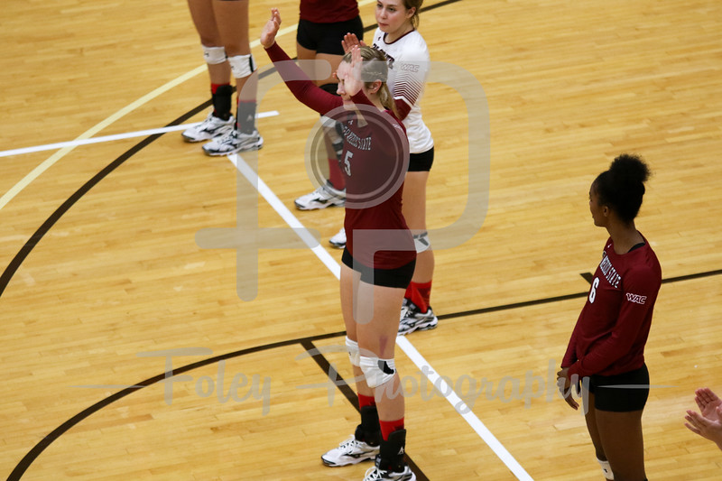 New Mexico State outside hitter Brigette Lowe (5)