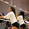 Georgia's Caroline Ostman (21), Desiree McCray (23), and Kendall Kazor (7) during the Bulldogs' match with Alabama at the Ramsey Center in Athens, Ga., on Friday, Sept. 30, 2016. (Photo by Cory A. Cole)