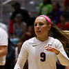 Georgia's Elle McCord (9) during the Bulldogs' match with Alabama at the Ramsey Center in Athens, Ga., on Friday, Sept. 30, 2016. (Photo by Cory A. Cole)