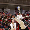 Georgia's Maddie Lobenstein (13) and Desiree McCray (23) during the Bulldogs' match with Alabama at the Ramsey Center in Athens, Ga., on Friday, Sept. 30, 2016. (Photo by Cory A. Cole)