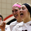 Georgia's Katie Houser (12) and Anna Kate Karstens (11) during the Bulldogs' match with Alabama at the Ramsey Center in Athens, Ga., on Friday, Sept. 30, 2016. (Photo by Cory A. Cole)