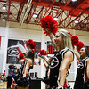 Cheerleaders during the Bulldogs' match with Alabama at the Ramsey Center in Athens, Ga., on Friday, Sept. 30, 2016. (Photo by Cory A. Cole)