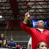 A Georgia fan during the Bulldogs' match with Alabama at the Ramsey Center in Athens, Ga., on Friday, Sept. 30, 2016. (Photo by Cory A. Cole)