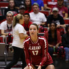 Alabama setter Shannon Mikesky (17) during the Bulldogs' match with Alabama at the Ramsey Center in Athens, Ga., on Friday, Sept. 30, 2016. (Photo by Cory A. Cole)