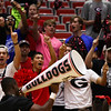 Fans during the Bulldogs' match with Alabama at the Ramsey Center in Athens, Ga., on Friday, Sept. 30, 2016. (Photo by Cory A. Cole)