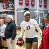 Georgia's Desiree McCray (23) during the Bulldogs' match with Missouri at the Ramsey Center in Athens, Ga. on Wednesday, Nov. 23, 2016. (Photo by John Paul Van Wert)